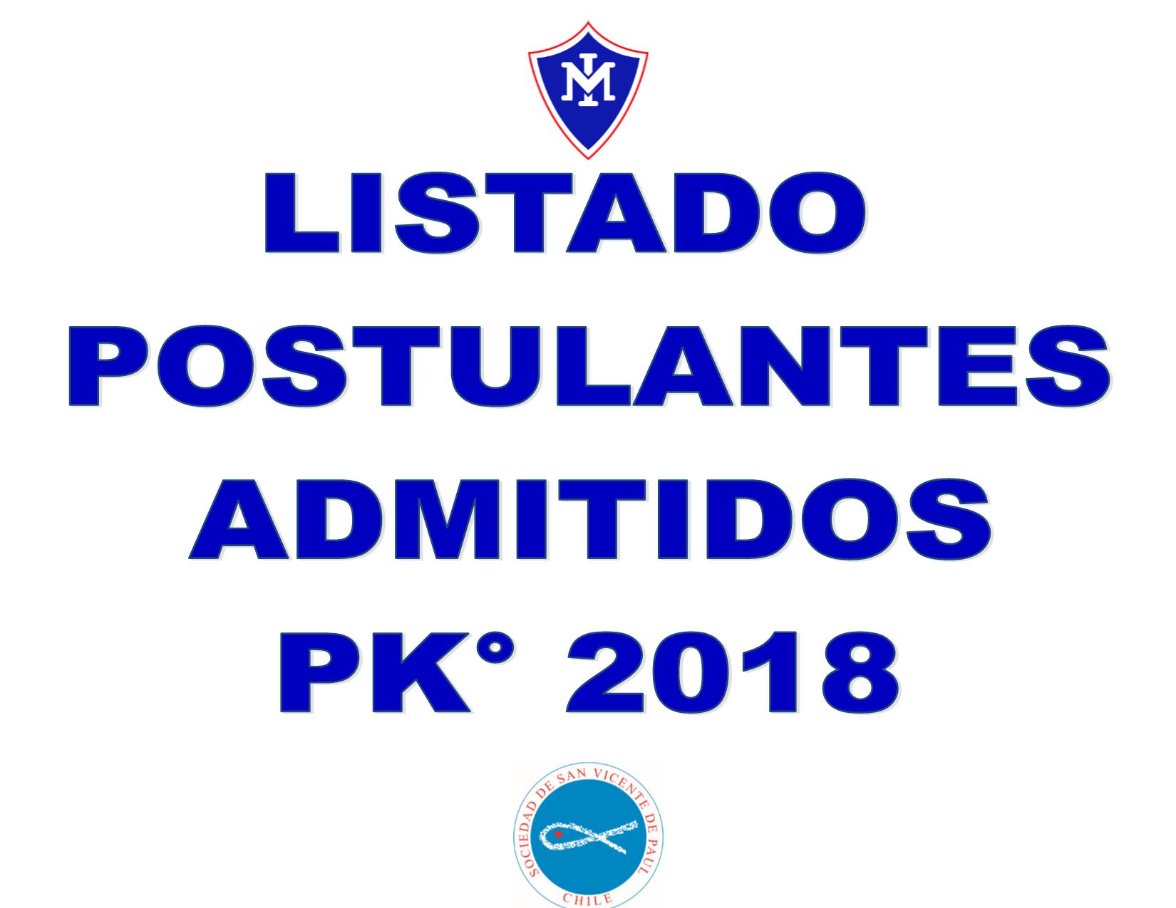 Listado Postulantes Admitidos