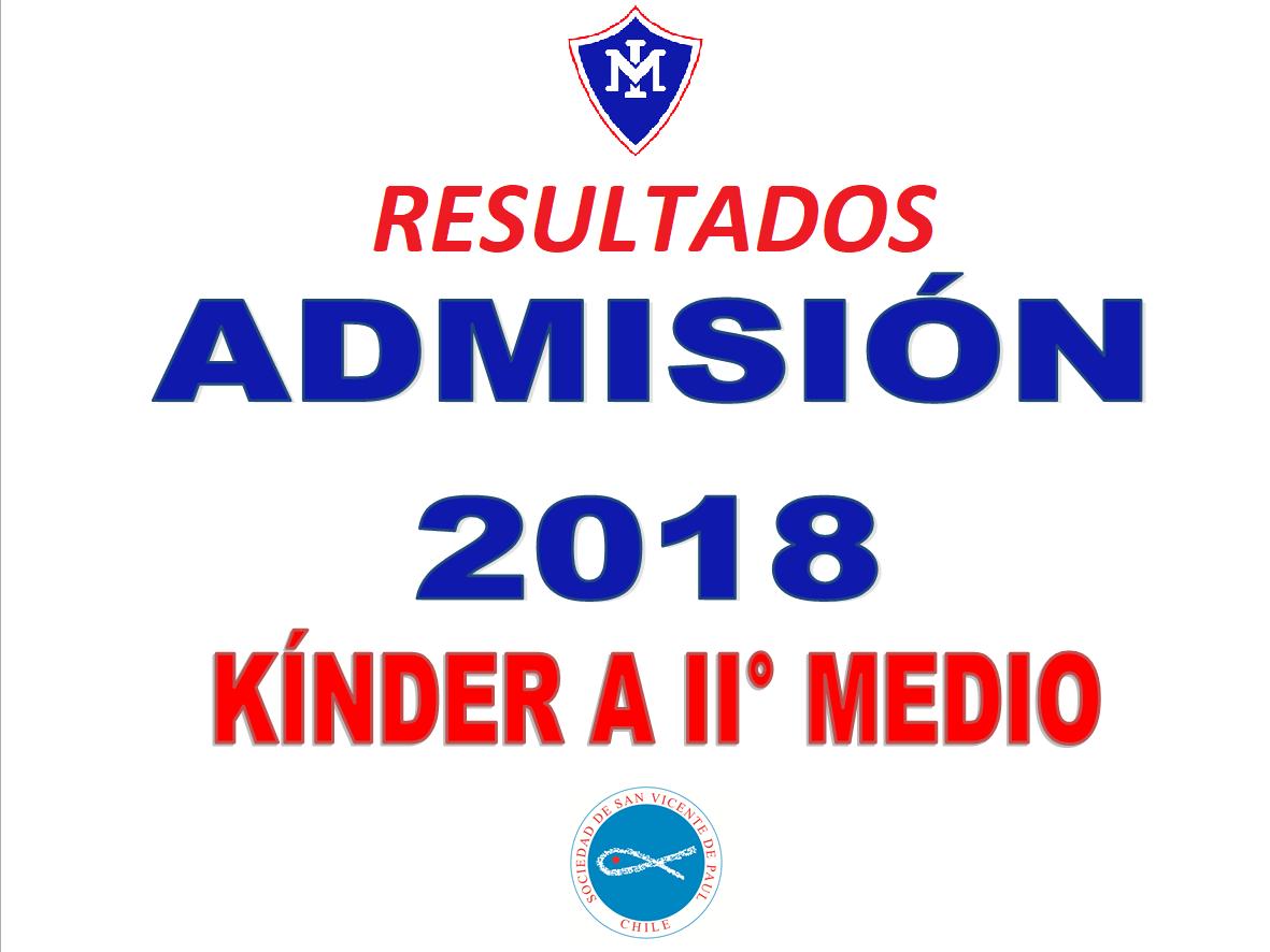 Resultados Admisión 2018